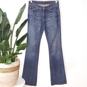 7 For All Mankind Long Bootcut Blue Jeans 27